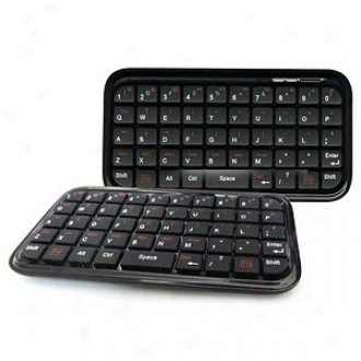 Hipstredt Universal Mini Bluetooth Keyboard W Tablet Stand, Black