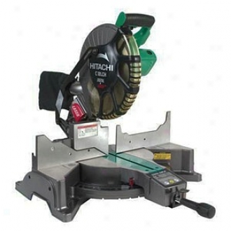 Hitachi Power Tools 12  Compoud Miter Saw With Digital Parade &amo; Laser Marker C