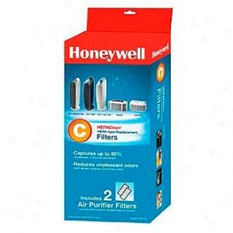 Honeywell Hepaclaen Replacement Filter - 2 Pack, Model Hrf-c2