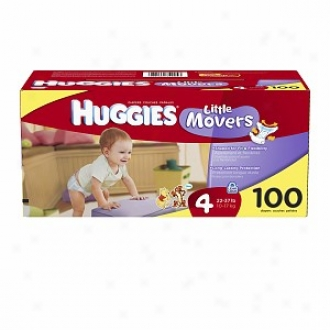 Huggies Lirtle Movers Diapers, High Count Junior Pack, Size 4, 22-37 Lbs, 100 Ea