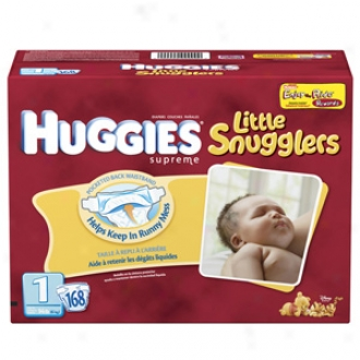 Higgies Little Snugglers Diapers, Giant Pack, Size 1, Up To 14 Lbs, 168 Ea
