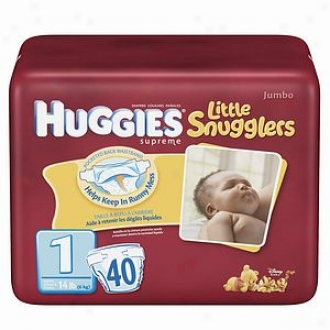 Huggies Little Snugglers Diapers, Jumb Pack, Size 1, Up To 14 Lbs, 40 Ea