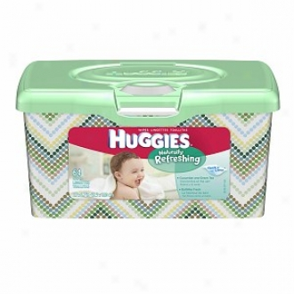 Huggies Naturally Refreshing Baby Wipes, Tub, Cucmuber & Green Tea