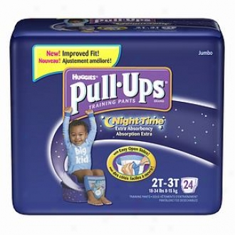 Huggies Pull-ups Night Time Training Pants For Boys, Jumbo Pack, Size 2t-3t, 24 Ea