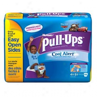 Huggies Pull-ups Training Pants For Boys With Cool Alert, Biggie Pack, 4t-5t, 44 Ea