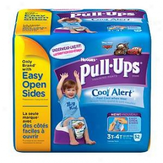 Huggies Pull-ups Training Pants For Boys With Cool Alert, Biggie Pack, 3t-4t, 52 Ea