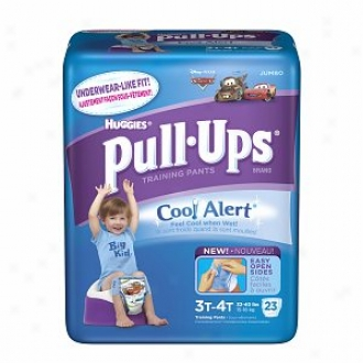 Huggies Pull-ups Training Pants For Boys With Cool Alert, Jumbo Pack, Size 3t-4t, 23 Ea