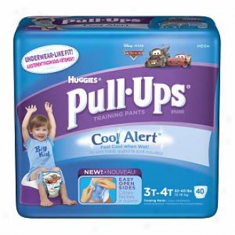 Huggies Pull-ups Training Pants For Boys With Cool Alert, Mega Pack, Size 3t-4t, 40 Ea