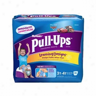 Huggies Pull-ups Training Pants For Boys With Learning Designs, Mega Bundle, Size 3t-4t, 38 Ea