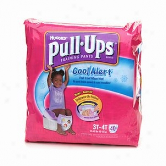 Hyggies Pull-ups Training Pants For Girls With Cool Alert, Mega Pack, Size 3t-4t, 40 Ea