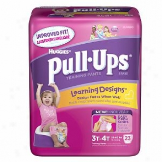 Huggies Pull-ups Training Pants For Girls With Learning Designs, Jumbo Pack, Size 2 3t-4t, 23 Ea
