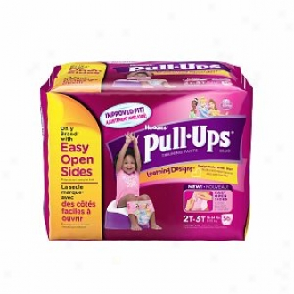Huggies Puull-ups Training Pants For Girls With Erudition Designs, Biggie Pack, 2t-3t, 54 Ea
