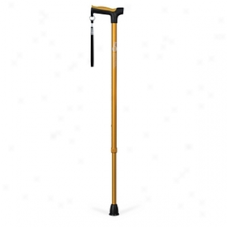 Hugo Adjustable Derby Cane With Reflective Strap, Amber