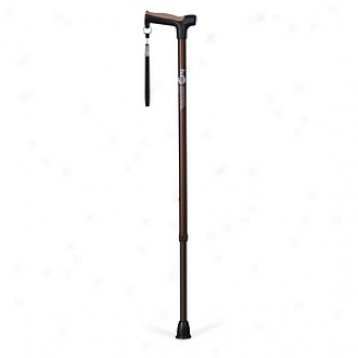 Hugo Adjustale Derby Cane With Reflective Strap, Cocoa