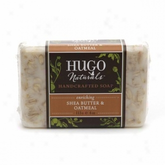 Hugo Naturals Handcrafted Bar Soap, Enriching Shea Butter &am0; Oatmeal