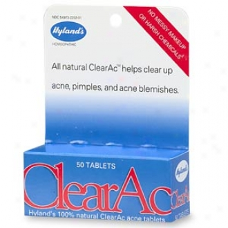 Hyland's Clearac 100% Natural Acne Tablets