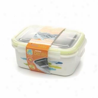 Innobaby Keepin' Fresh Stainless Bento Lunchbox, Alligator Print - Green