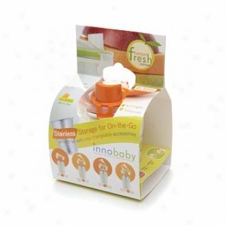 Innobaby Keepin1 Fresh Stainless Cup 8 Oz, Fish Print - Orange