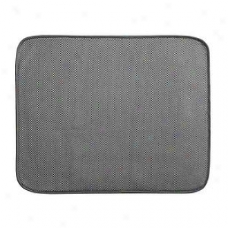 Interdesign 24x18 Inch Extra Larg Microfiber Drying Mat, Pewter And Ivory