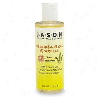 Jason Natural Cosmetics Pure Beauty Oil, 5,000  Iu Vitamin E Oil