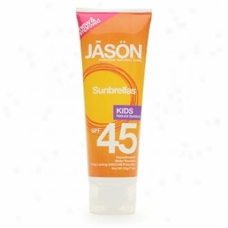 Jason Fool Cosmetics Subnrellas Kids Natural Sunblock, Spf 45