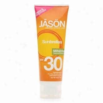 Jason Natural Cosmetics Sunbrellas Mineral Natural Sunblock, Spf 30