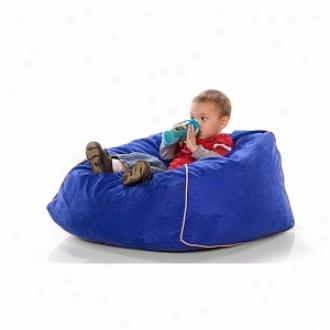 Jaxx Club Jr Foam Filled Kid's Beanbag Chair, Blueberry Microsuede