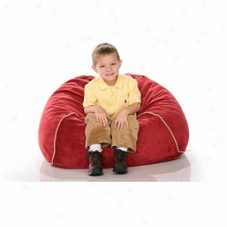 Jaxx Club Jr Froth Filled Kid's Beanbag Chair, Cherry Microduede