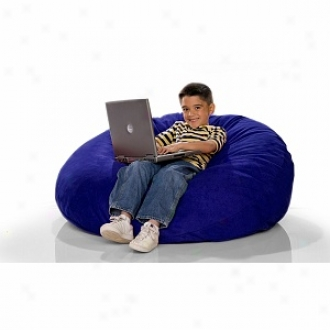 Jaxx Cocoon Jr Foam Filled Three-in-one Kid's Beanbag, Blueberry Microsuede