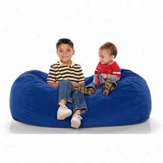 Jaxx Lounger Jr Froth Filled Beanbag, Blueberry Microsuede
