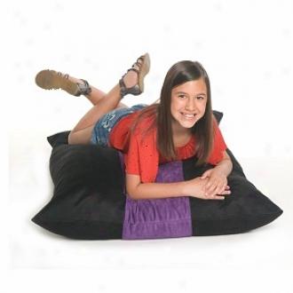 Jaxx Pillowsak Jr Three-in-one F0am Filled Beanbag Chair, Dismal And Grape Microsuede