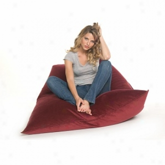Jaxx Solo Bead Filled Beanbag Chair, Merlot Velvish