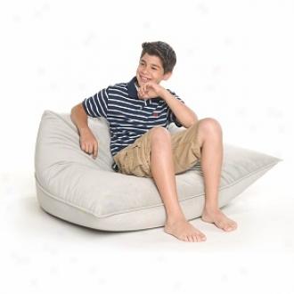 Jaxx Solo Jr. Bead Filled Beanbag Chair, Grey Velvish