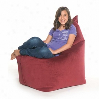 Jaxx Solo Jr. Bead Filled Beanbag Chair, Merlot Velvish
