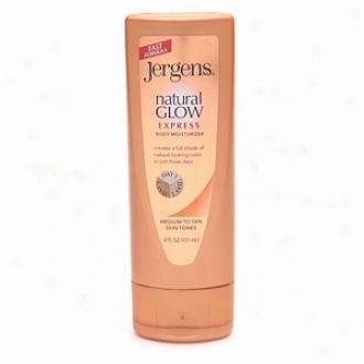 Jergens Natural Glow Express Body Moisturizer, Medium/tan Skin Tones