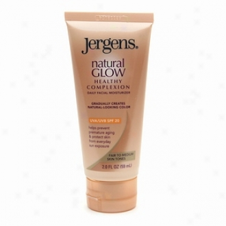 Jergens Natural Glow Healthy Complexion Daily Facial Moisturizer, Fair To Medium