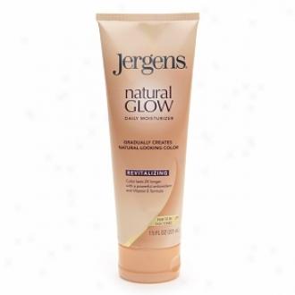 Jergens Natural Glow Revitalizing Daily Moisturizer, Fair To Medium Skin Tones