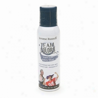 Jerome Russell Team Colors Sweat Resistant Hair Color Spray, Ships of war Blue