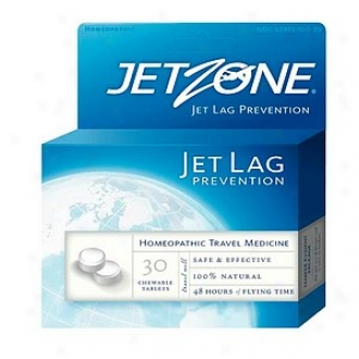Jetzone Homeopathic Jet Lag Prevention, Chewable Tablets