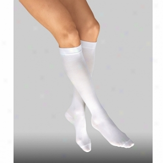 Jobst Anti-embolism Knee Length Closed Toe Stocking, White, Large Regular