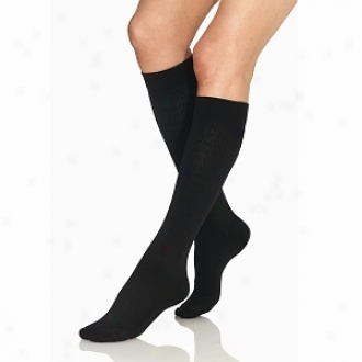 Jobst Supportwear Women's Exemplar Trouser Knee High Socks, Black, 7-0