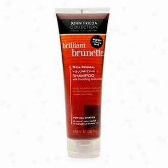 John Frieda Brilliant Brunette Shine Release Volumizing Shampoo For All Shades, Chestnut To Espresso