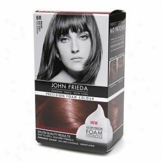 John Frieda Precision Foam Color Precision Foam Colour, 6r Radiant Red Light Red Brown