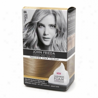 John Frieda Exactness Foam Color Precision Foam Colour, 8a Sheer Blonde Medium Ash Blonde