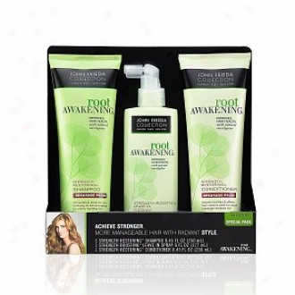John Frieda Root Awakening Strength Restoring And Armament Boosting Special Pack, Breakage Prone
