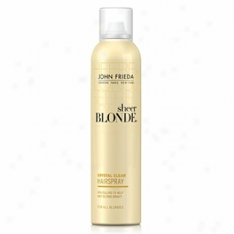 oJhn Frieda Sheer Blonde Crystal Clear Shape & Glimmer Hairspray For All Blondes