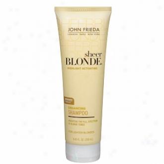 John Frieda Sheer Blonde Highlight Activating Enhancjng Shampoo, For Lighter Shades, For Platinum To Champagne Boondes