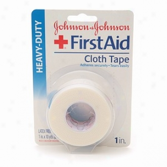 Johnson & Johnson First Aid Heavy-udty Cloth Tape, 1 In. X 10 Yds