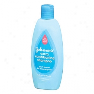 Johnson's Baby No More Tangles Shampoo 2-in-1 Formula For Thick/curly Hair