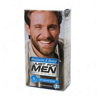 Just For Men Brush-in Pigment Gel For Mustache, Beard & Sideburns, Light-medium Brown M-30